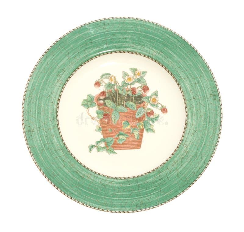 Vieux plat de dîner antique photographie stock libre de droits