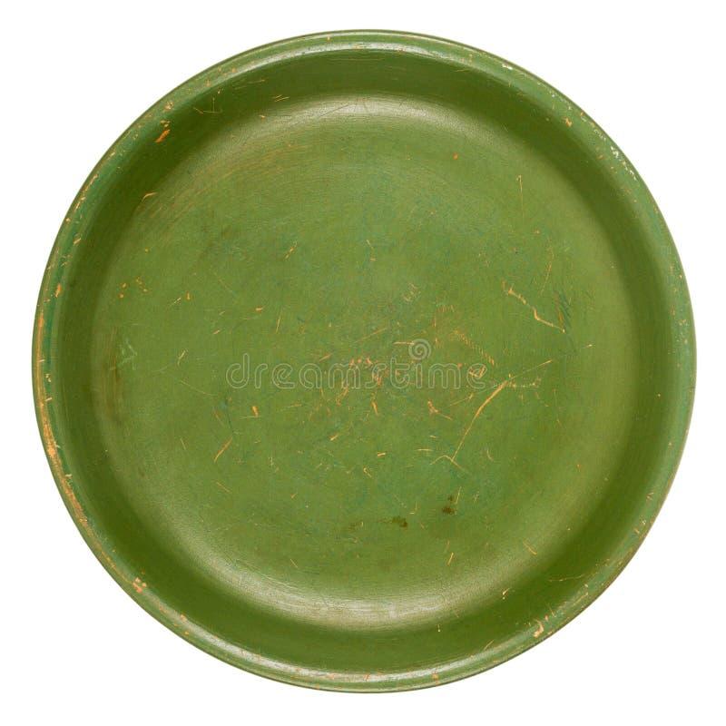 Vieux plat vert image libre de droits