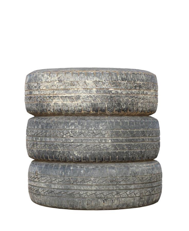 Vieux pneus modifiés photos stock