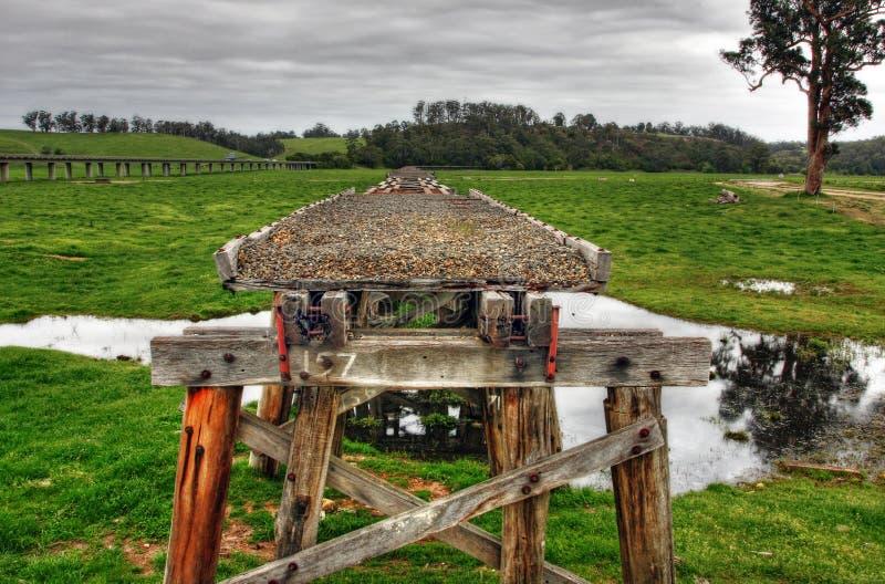 Vieux pont de chemin de fer photos stock