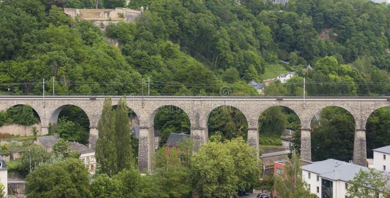 Vieux pont de Passerelle, la ville du Luxembourg photos libres de droits
