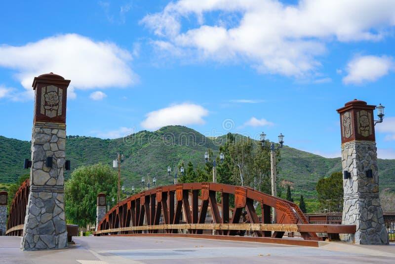 Vieux pont de Temecula de ville photographie stock libre de droits