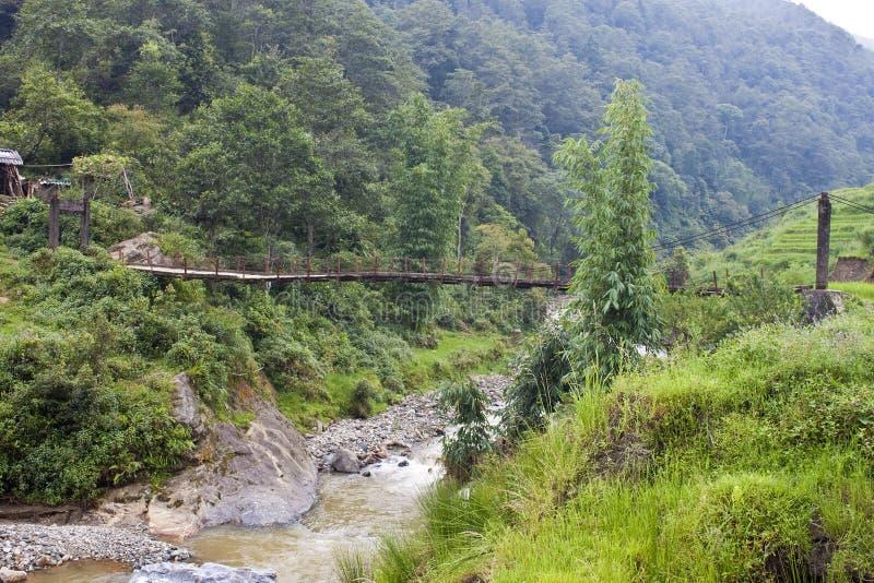 Vieux pont en bois de pied photos libres de droits
