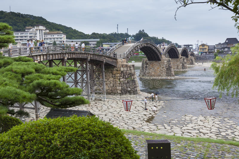Vieux pont en bois japonais photo libre de droits