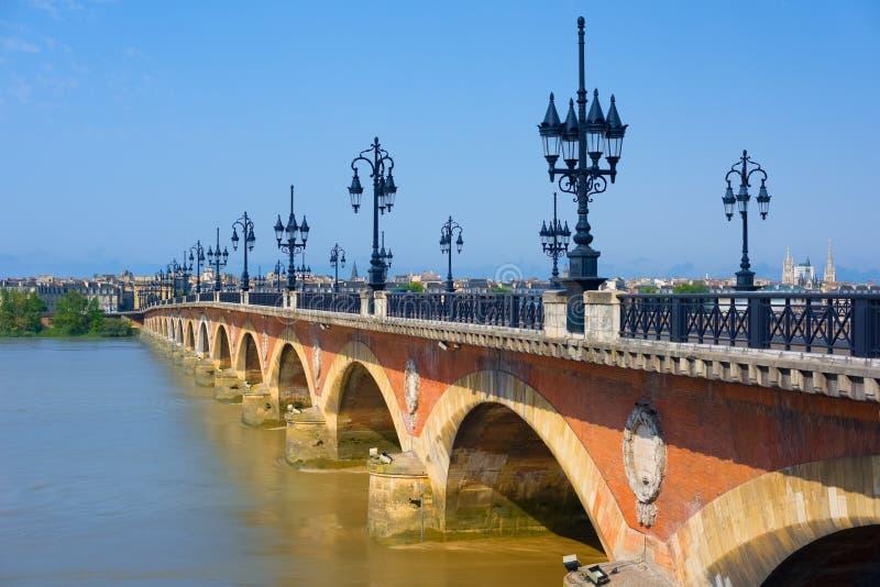 Vieux pont en Bordeaux photo libre de droits