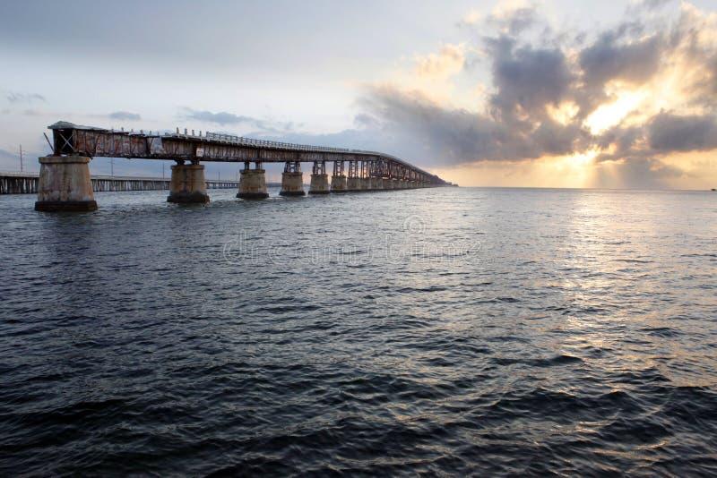 Vieux pont en chemin de fer photo stock