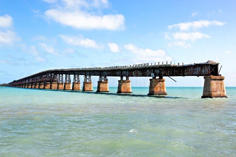 Vieux pont en chemin de fer, clés de la Floride images stock