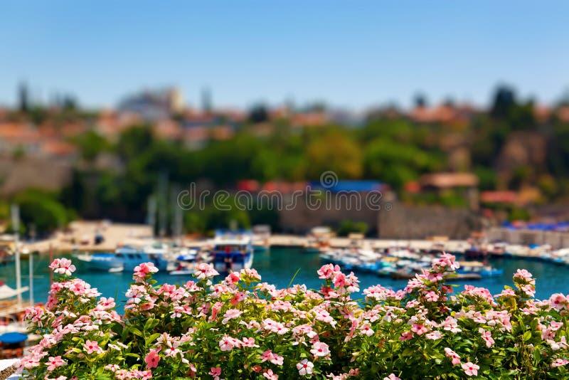 Vieux port à Antalya, Turquie photographie stock libre de droits