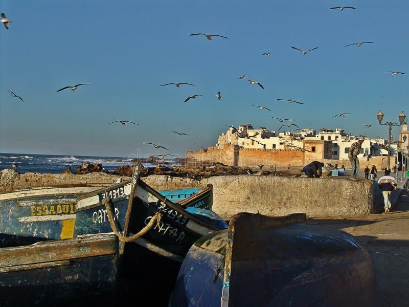 Vieux port d'Essaouira au Maroc images stock