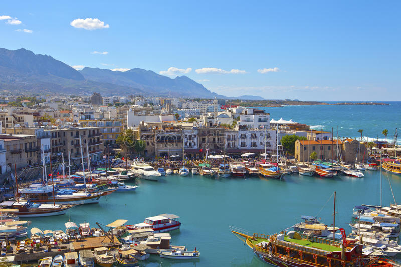 Vieux port dans Kyrenia, Chypre. photo libre de droits
