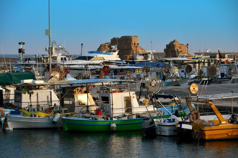 Vieux port dans Paphos en Chypre photos stock