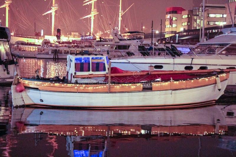 Vieux port de bateau photo stock