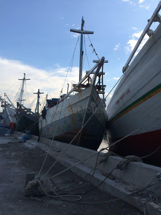 Vieux port de Jakarta images libres de droits