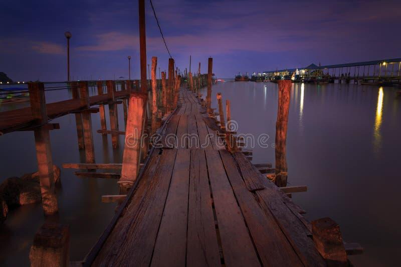 Download Vieux port de Penang photo stock. Image du wooden, plage - 45357876