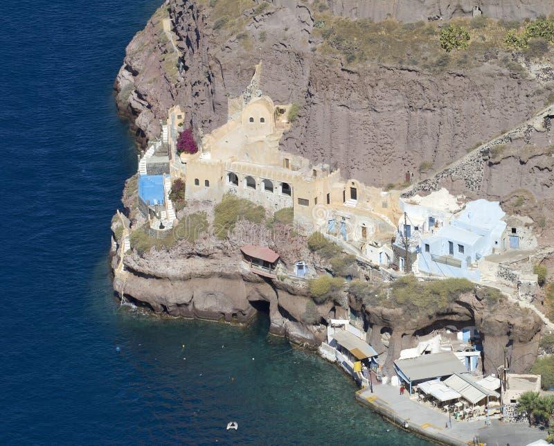 Vieux port de Santorini photo stock