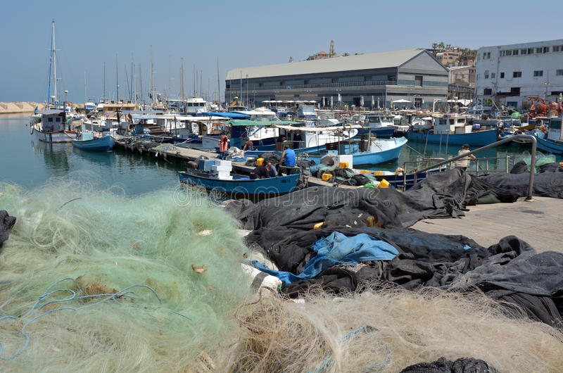 Vieux port de ville de Jaffa dans le téléphone Aviv Jaffa - Israël photos libres de droits