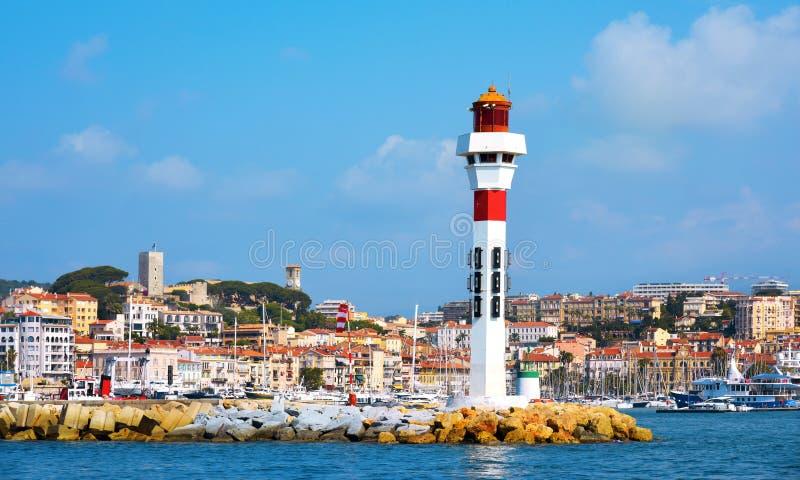 Vieux port i Cannes, Frankrike royaltyfria foton