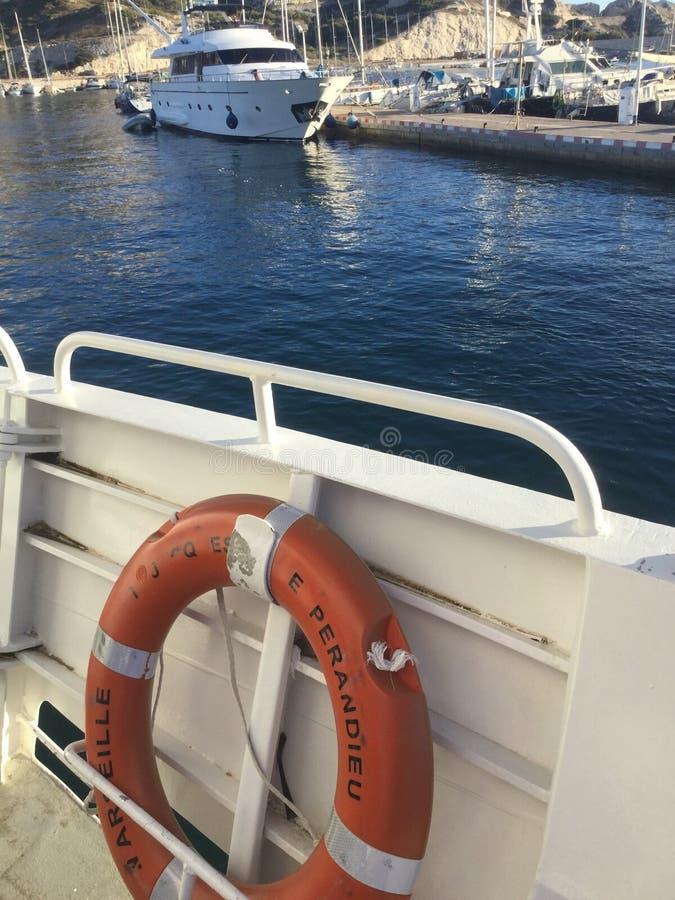 Vieux port Marseille royaltyfria foton