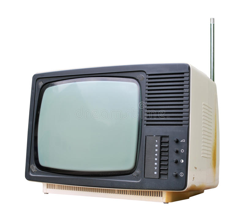 vieux positionnement TV photos libres de droits