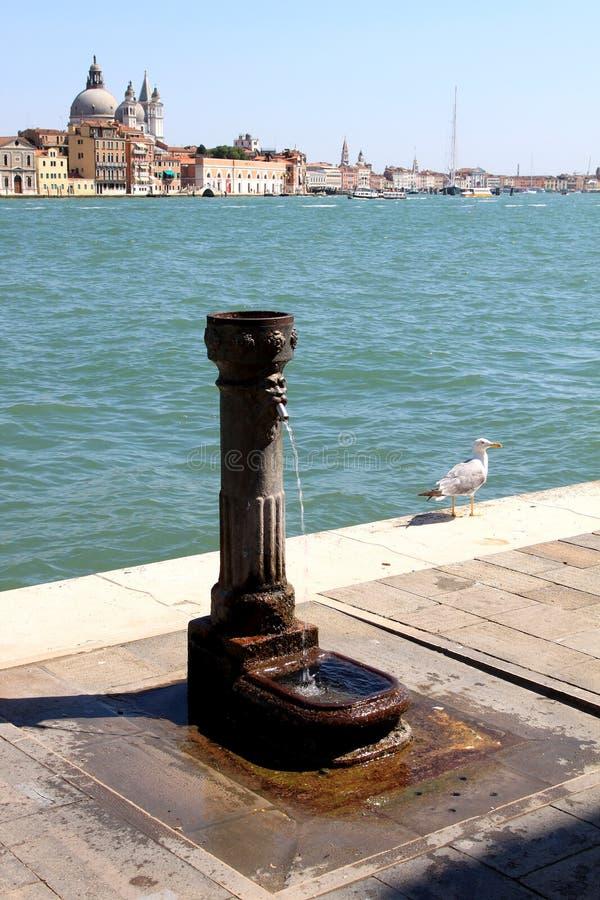 Vieux poste d'eau potable à la La italienne Giudecca photographie stock libre de droits