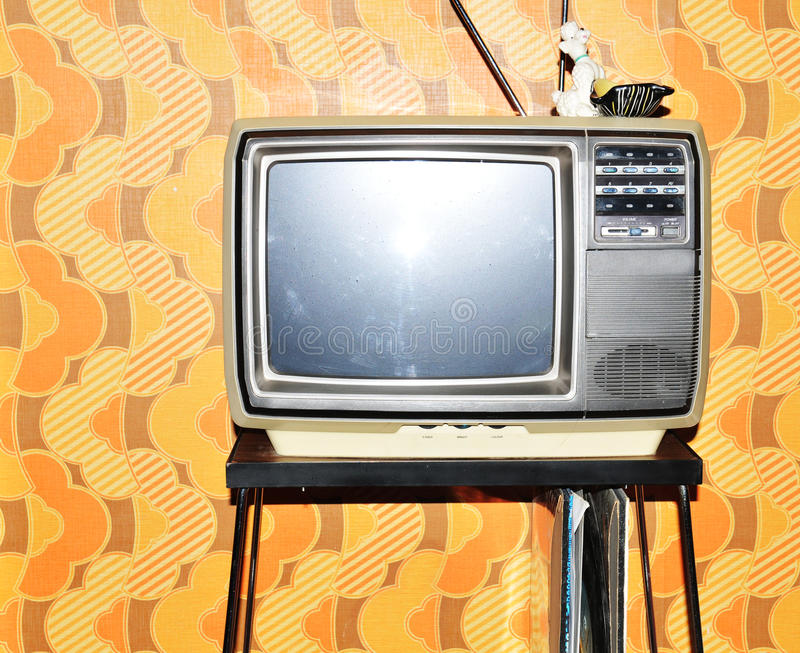 Vieux poste TV images libres de droits