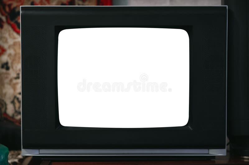 Vieux poste TV image libre de droits