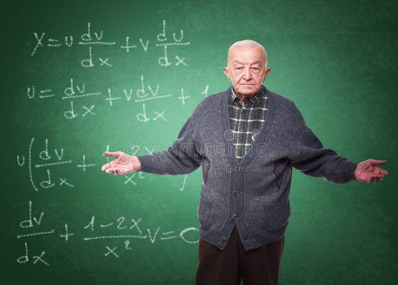 Vieux professeur photos libres de droits