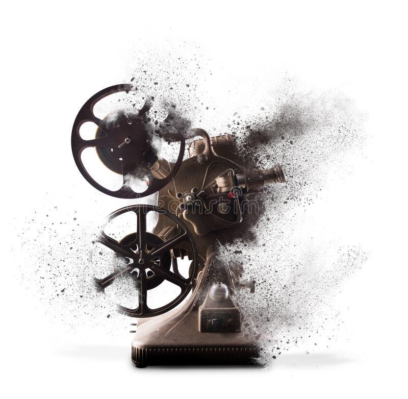 Vieux projecteur de film éclatant photos libres de droits