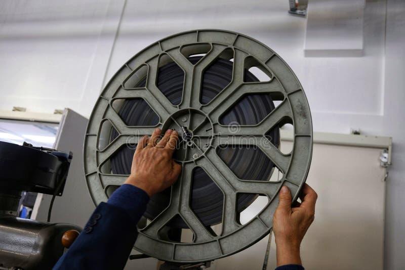 Vieux projecteur de film photographie stock libre de droits
