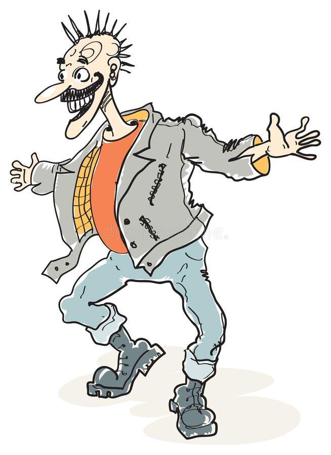 Vieux punk illustration de vecteur