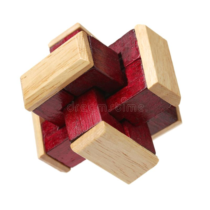 Vieux puzzle en bois image libre de droits