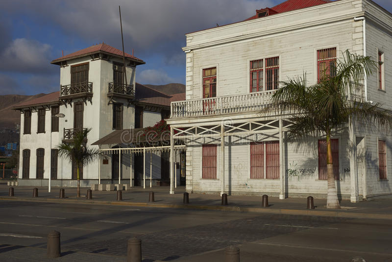 Vieux quart d'Antofagasta, Chili photographie stock libre de droits