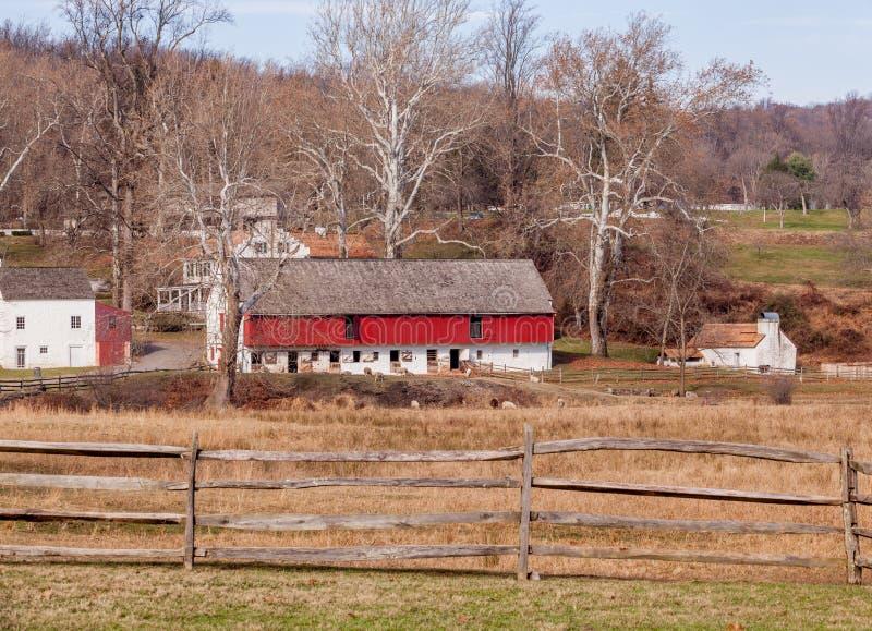 Vieux règlement de ferme dans Hopewell, Pennsylvanie image libre de droits
