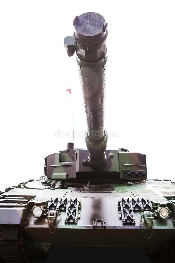 Vieux réservoir militaire avec blindé dans le studio images libres de droits