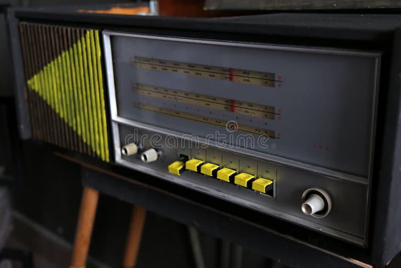 Vieux rétro style par radio photographie stock