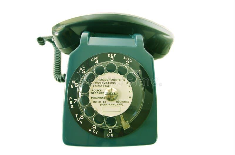 Vieux rétro téléphone images stock