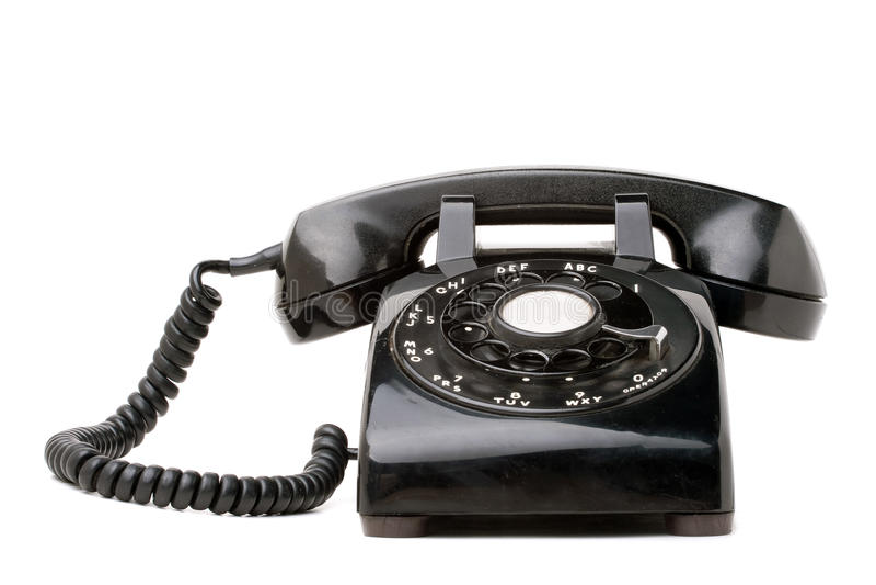 Vieux rétro téléphone noir photographie stock