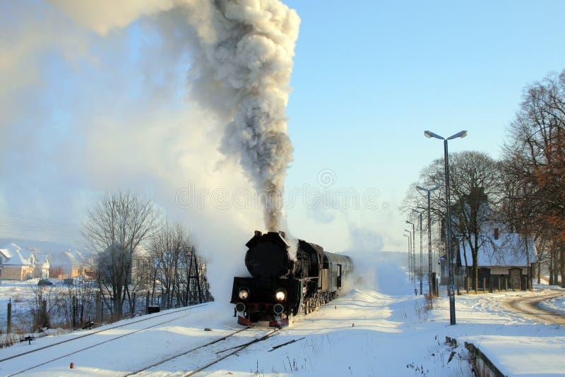 Vieux rétro train de vapeur images libres de droits
