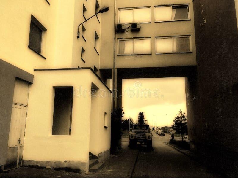 Vieux regard de Pilaite Vilnius images libres de droits