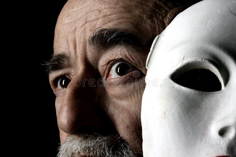 Vieux regard et masque 2 photo libre de droits
