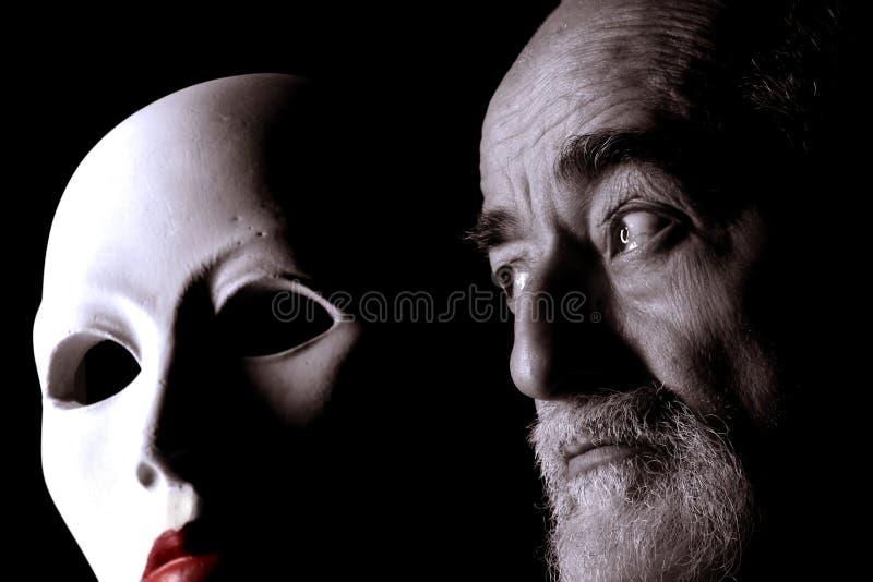 Vieux regard et masque 2 images libres de droits