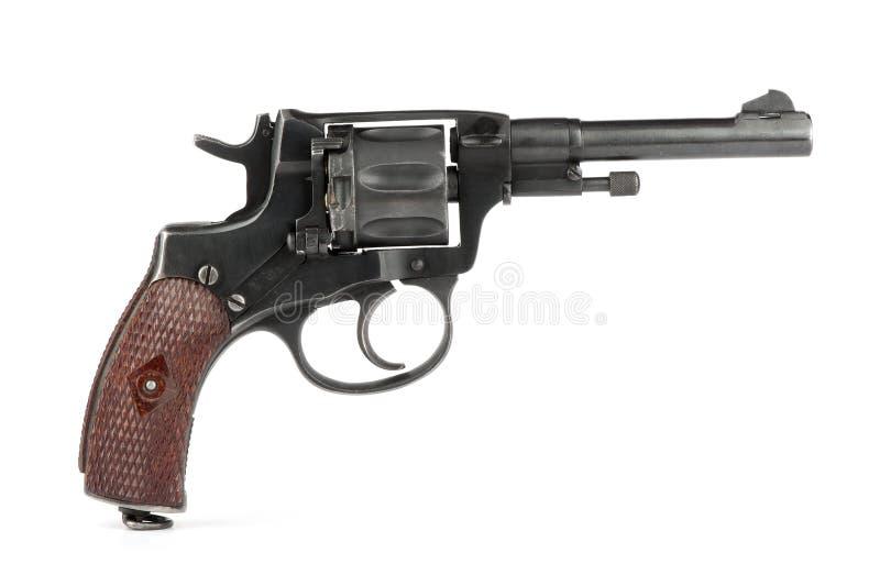 Vieux revolver de Nagant photographie stock