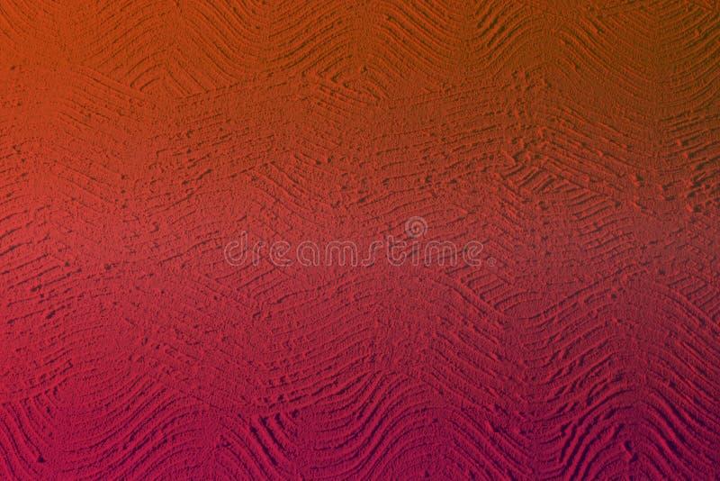 Vieux ripply plâtre rouge sur la texture de mur - fond abstrait fantastique de photo image libre de droits