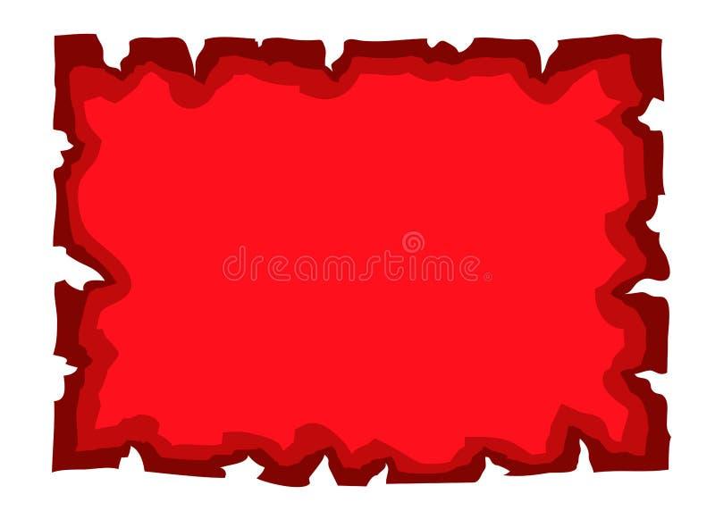 Vieux rouge de papier de document vide de parchemin illustration de vecteur