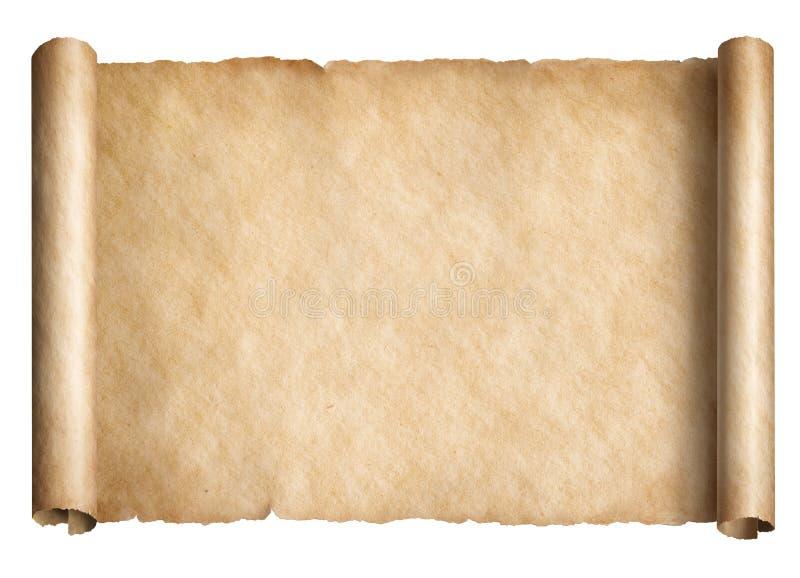 Vieux rouleau ou parchemin de papier d'isolement illustration libre de droits