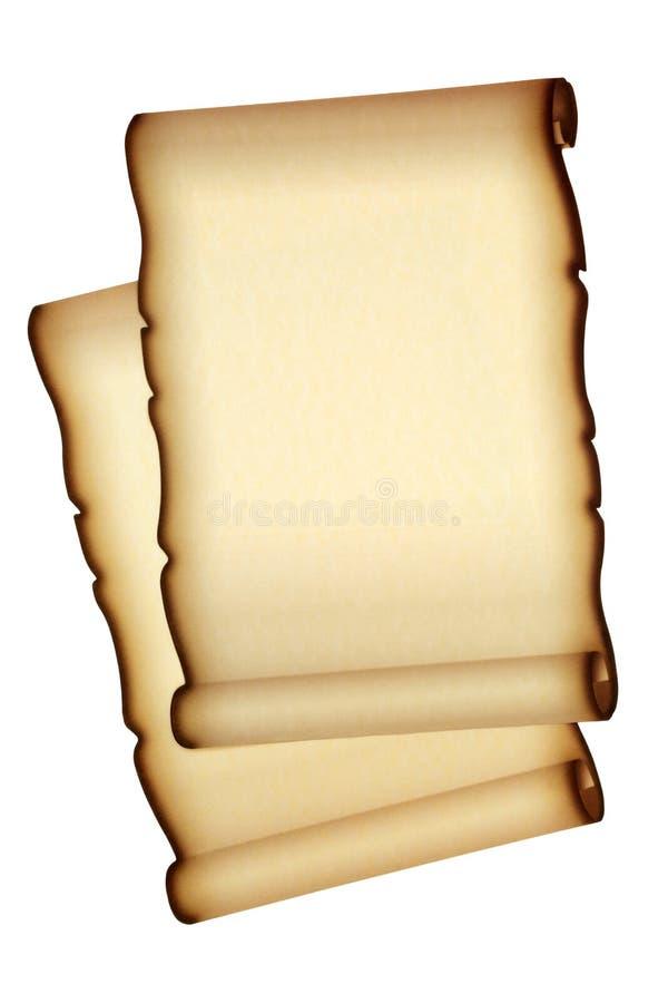 Vieux rouleaux de papier parcheminé photos libres de droits