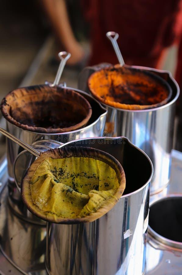 Vieux sachet à thé de style thaïlandais photos libres de droits