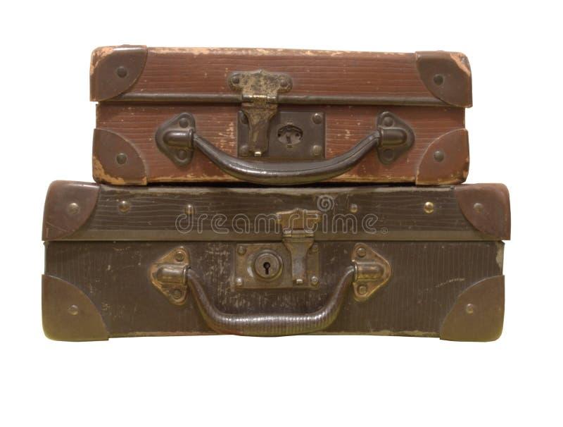 Vieux sacs en cuir images libres de droits