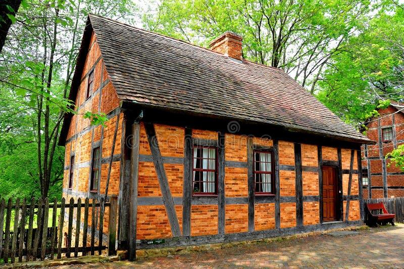 Vieux Salem, OR : Chambre de Fachwerk 1765 quatrième photo libre de droits
