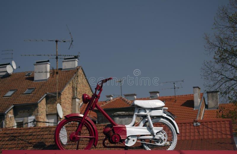 Vieux scooter de cru photos libres de droits